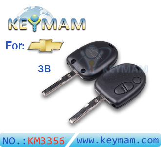 Chevrolet 3 button remote key shell