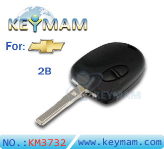 Chevrolet 2 button remote key shell