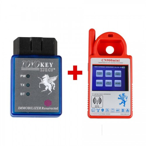 Mini CN900 Transponder Key Programmer Plus TOYO Key OBD II Key Pro for 4C 46 4D 48 G H Chips With 24 Tokens